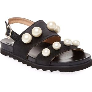 RENVY Embellished Leather Sandal 6.5